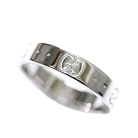 Gucci 18K White Gold Icon Ring Size 5