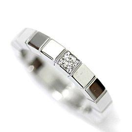 Cartier Lanieres Ring 18K White Gold Diamond Size 4