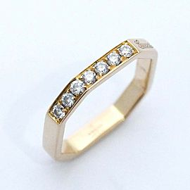 Gucci 18K Rose Gold Diamond Wedding Ring Size 4.75