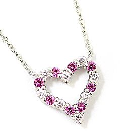Tiffany & Co. Platinum Diamond Sapphire Necklace