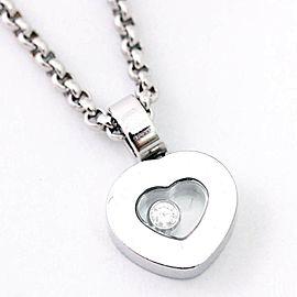 Chopard 18K White Gold Diamond Heart Necklace