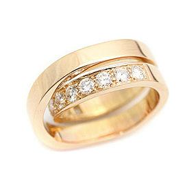 Cartier Nouvelle Vague 18K Rose Gold Diamond Ring Size 5.5