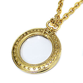 Chanel Gold Tone Pendant Necklace