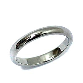 TIFFANY&Co. simple Marriage Platinum Ring Size 7