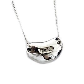Tiffany & Co. Elsa Peretti Sterling Silver Bean Necklace