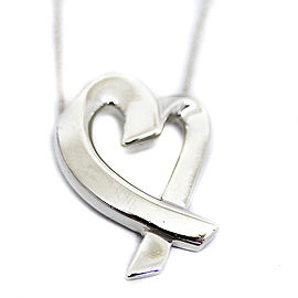 Tiffany & Co. Paloma Picasso Sterling Silver Loving Heart Necklace