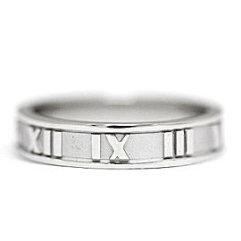 TIFFANY&Co. 18K WG narrow Rome Ring Size 4.75