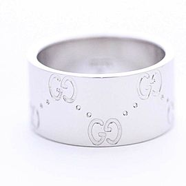 Gucci 18K White Gold Ring Size 4.75