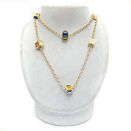 Louis Vuitton Gold Tone Rhinestone Necklace