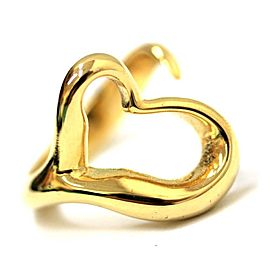 Tiffany & Co. 18K Yellow Gold Open Heart Ring Size 5.5