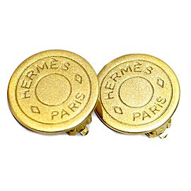 Hermes Gold Tone Earrings