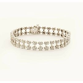 Precious14k White Gold Fashion Bracelet With 4.35ct Diamonds