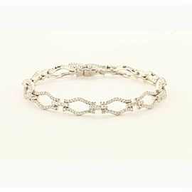Exclusive18k White Gold Fashion Bracelet With 2.75ct Diamonds