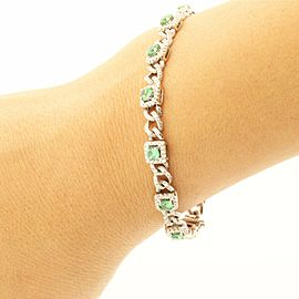 Precious18k White Gold Bracelet With 2.00ct Emeralds & 2.35ct Diamonds