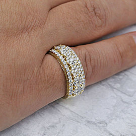 Yellow Gold Wedding band features 1.50ct of total Diamonds