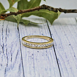 14k Yellow Gold Wedding Band features Round cut Channel-set Diamonds in 0.50ct