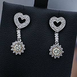 14k white Gold Fashion 0.23ct Diamond Earrings