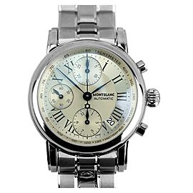 MONTBLANC STAR STAINLESS STEEL 38 mm CLASSIC CHRONOGRAPH WATCH 101643 NEW BOX