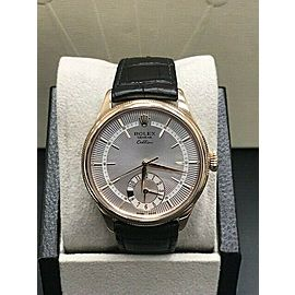Rolex 50525 Cellini Dual Time 18K Rose Gold Watch Box & Papers 2019