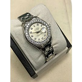 Rolex Ladies Pearlmaster 69299 Original Diamond Dial & Bezel 18K White Gold