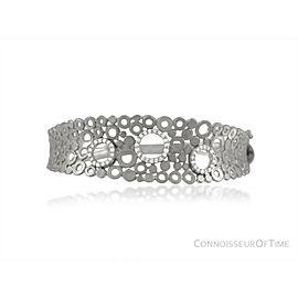14K White Gold & Diamond Modern Bangle Bracelet, 1/2 Carat of Diamonds - $2,910