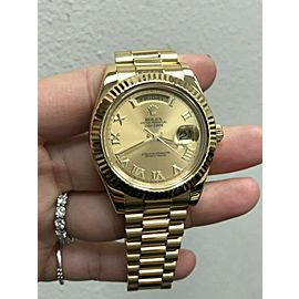 Rolex President Day Date II 41MM 218238 18K Yellow Gold Box & Papers 2013