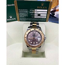 Rolex Yacht Master 16623 Silver 18K Yellow Gold & Stainless Steel Box Paper 2011