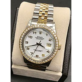 Rolex Datejust 16013 White Dial 18K Yellow Gold & Stainless Steel