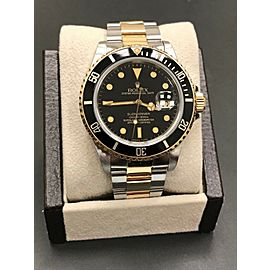 Rolex Submariner 16803 Black Dial 18K Yellow Gold & Stainless Steel RARE DIAL