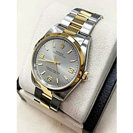 Rolex Oyster Perpetual 18k Yellow Gold & Stainless Steel 14203 Arabic Dial