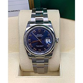Rolex Datejust 116200 Blue Roman Dial Stainless 2019