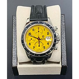 Tudor 79260 Steel Prince Tiger Woods Chronograph Yellow Dial