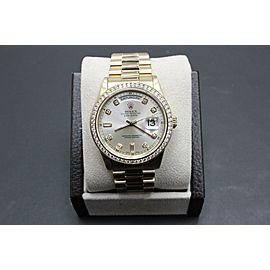 Rolex President Day Date 118238 Diamond Dial and Diamond Bezel 18K Yellow Gold