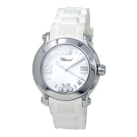 Chopard Happy Sport Round Stainless Steel Swiss Quartz Ladies Watch 278475-3016