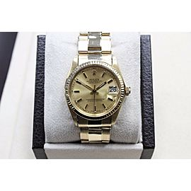 Rolex 6827 Midsize DateJust 14K Yellow Gold 31mm