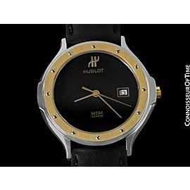 HUBLOT MDM Two-Tone Mens Unisex SS Steel & 18K Gold Watch - Mint with Warranty