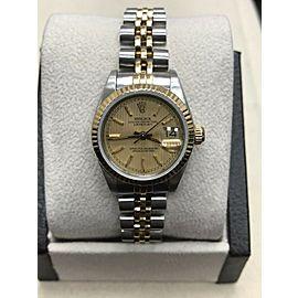 Rolex Ladies Datejust 69173 18K Yellow Gold & Stainless Steel