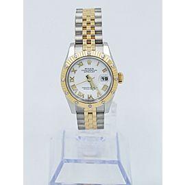 Rolex Ladies Datejust 179313 18K Yellow Gold & Steel Diamond Bezel