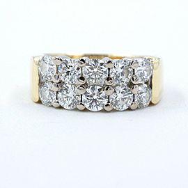 Hearts on Fire Enchantment 10 Diamond Double Row Band Ring 1.50 tcw 18K YG