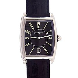 Gerald Genta Solo BLK Date Display Stainless Steel Automatic Mens Watch SSO.M.10