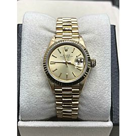 Rolex Ladies President Date 69178 18K Yellow Gold Champagne Dial