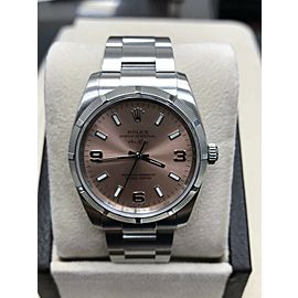 Rolex Air King 114210 Stainless Steel Pink Dial Box & Papers