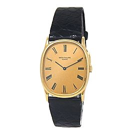 Patek Philippe Golden Ellipse 18k Yellow Gold Manual Ladies Watch 3748
