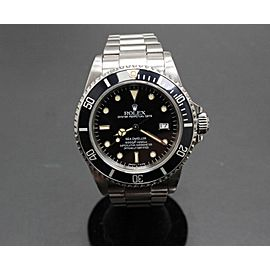 Rolex Sea Dweller 16660 Black Rare Spider Web Dial Stainless Steel Box & Papers