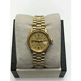 Vintage Rolex Ladies President DateJust 6517 18K Yellow Gold