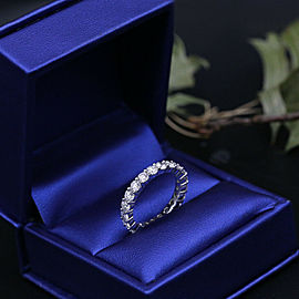14k White Gold Eternity Band featured with 21 Round Cut Diamonds 2.17ct TCW