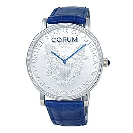 Corum Heritage Coin Silver Dollar 925 Silver Automatic Men's Watch C082/03059