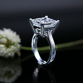 14k White Gold Cocktail AGI Certified Ring featured with 7.03ct TCW Diamonds