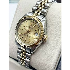 Rolex Ladies Datejust 6916 Champagne Dial 18K Yellow Gold & Stainless Steel