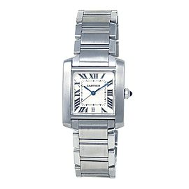 Cartier Tank Francaise Stainless Steel Automatic Ladies Watch W51002Q3